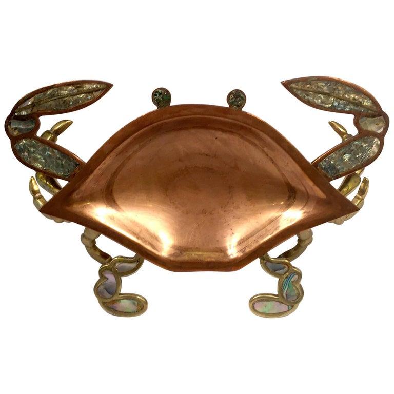Metales Casados Serving Tray Crab Shaped For Sale
