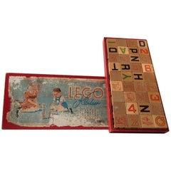 Vintage LEGO Building Blocks in Wood, complete Set, Denmark 1940s