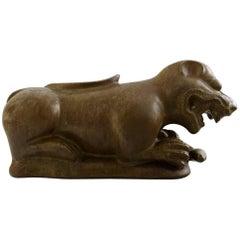 Jacob E. Bang for Nymølle, Ceramic Lion from the Fiji Islands, Denmark, 1960s