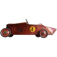 Stunning Vintage Delage Boat Tail Racer Pedal Car Distressed Loft Style, 1935