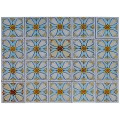 20 Art Deco Relief Tiles by Gilliot , 1930