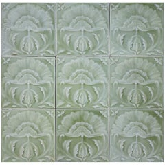 "64 Art Nouveau Relief Tiles 1681"" sqm by Craven Dunnill, & Co., 1905"
