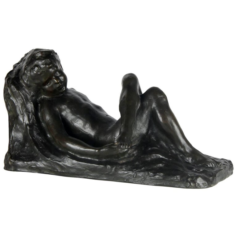 20th Century Bronze Sculpture, Signed by Eugeen Canneel