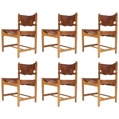 Set of Six Dining Chairs by Børge Mogensen
