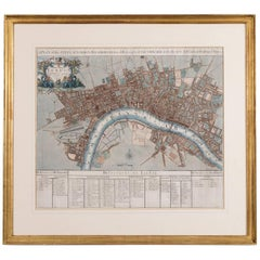 John Senex Map of London in 1720