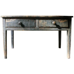 Mid-19th Century Yorkshire Dales Painted Pine Farmhouse Serving Table circa 1850