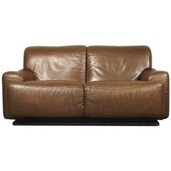Italian Classic Leather Sofa from Brunati, 1970s