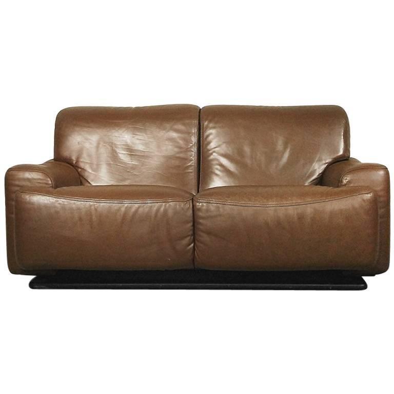 Italian Classic Leather Sofa from Brunati, 1970s