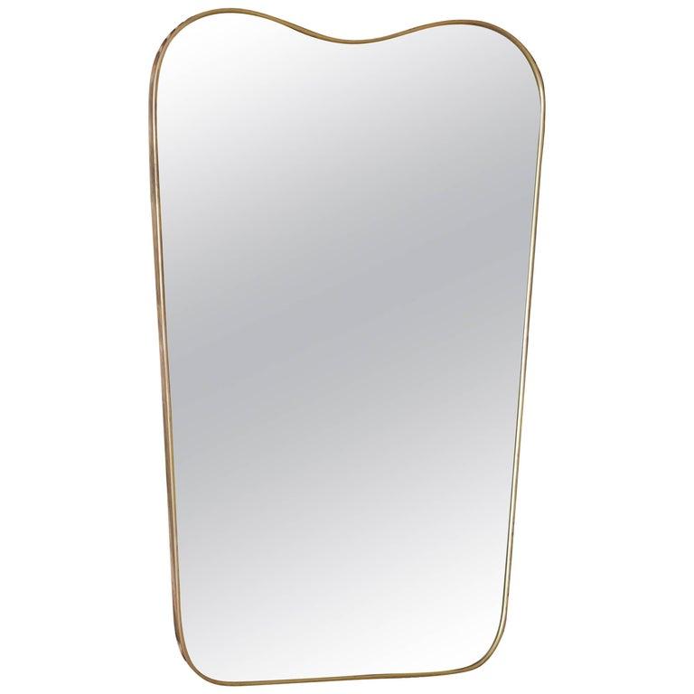 Italian Vintage Brass Mirror
