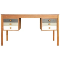 Danish Teak Veneer Desk with Drawers from Domino Møbler, 1960s