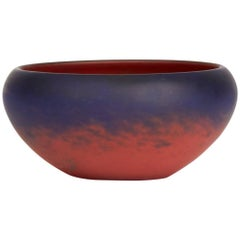 Verrerie Schneider Mottled Red Art Glass Bowl, circa 1920