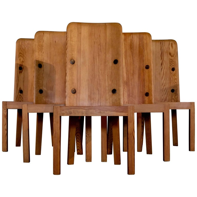 "Set of Six ""Lovö"" Chairs by Axel Einar-Hjorth, 1930s"