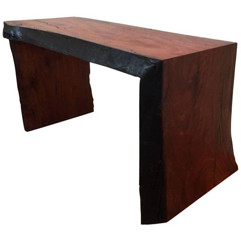 Short Bench In Eucalyptus Wood For