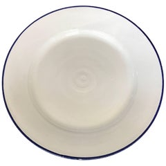 Large White Ceramic Italian Faience Charger Platter