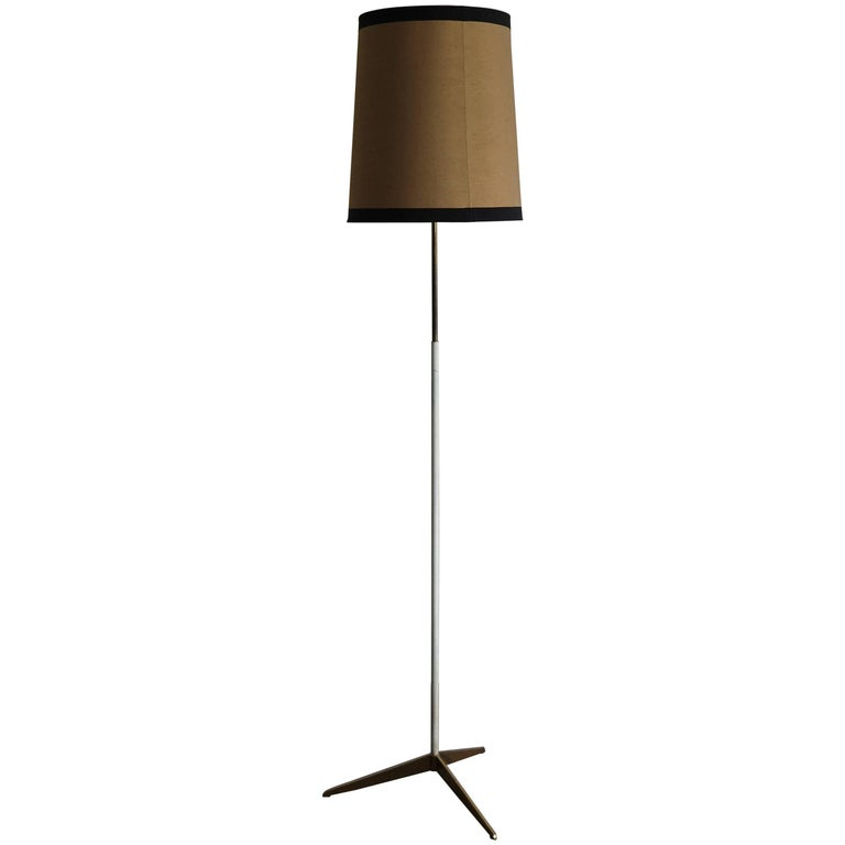 1950s Stilnovo Midcentury Italian Floor Lamp with Brass Base