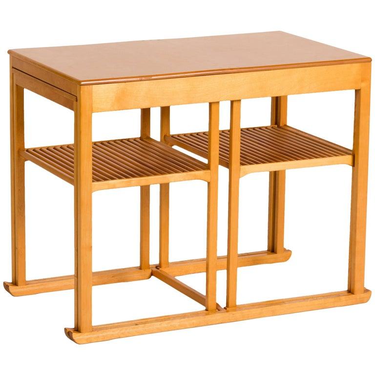 """Carl Mamsten, Set of """"Sledge"""" Nesting Tables, Sweden, circa 1948"""