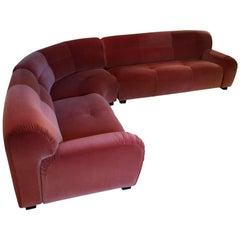 1970s Modular Curved Sofa