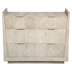 Shagreen Dresser With Bronze Handles