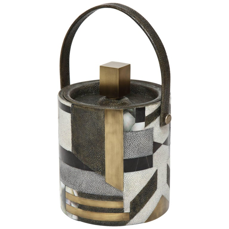 Shagreen Ice Bucket, Offered by Area ID