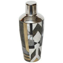 Shagreen Shaker With Bronze Details