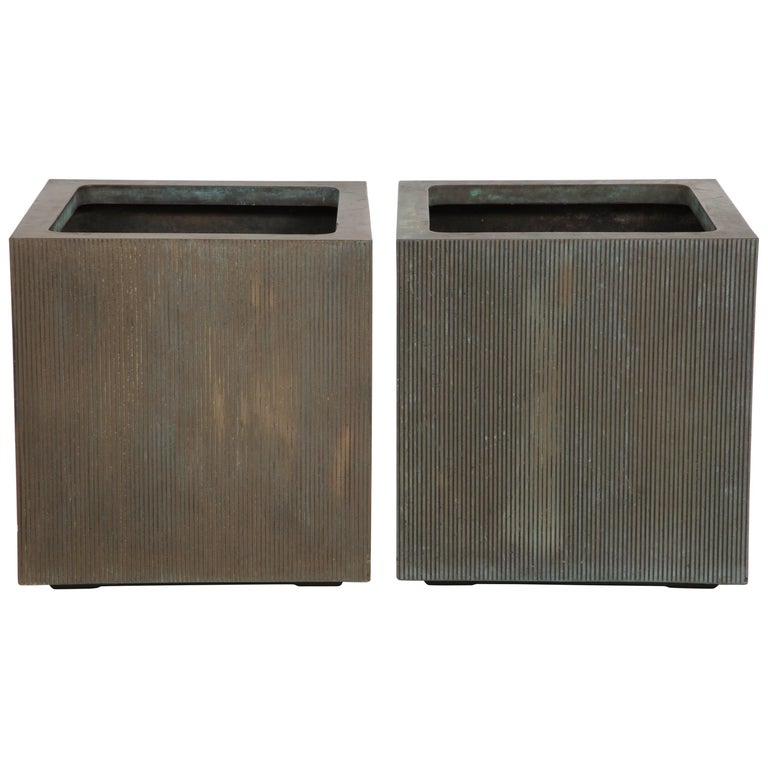 Pair of square planters by Forms and Surfaces, 1970s