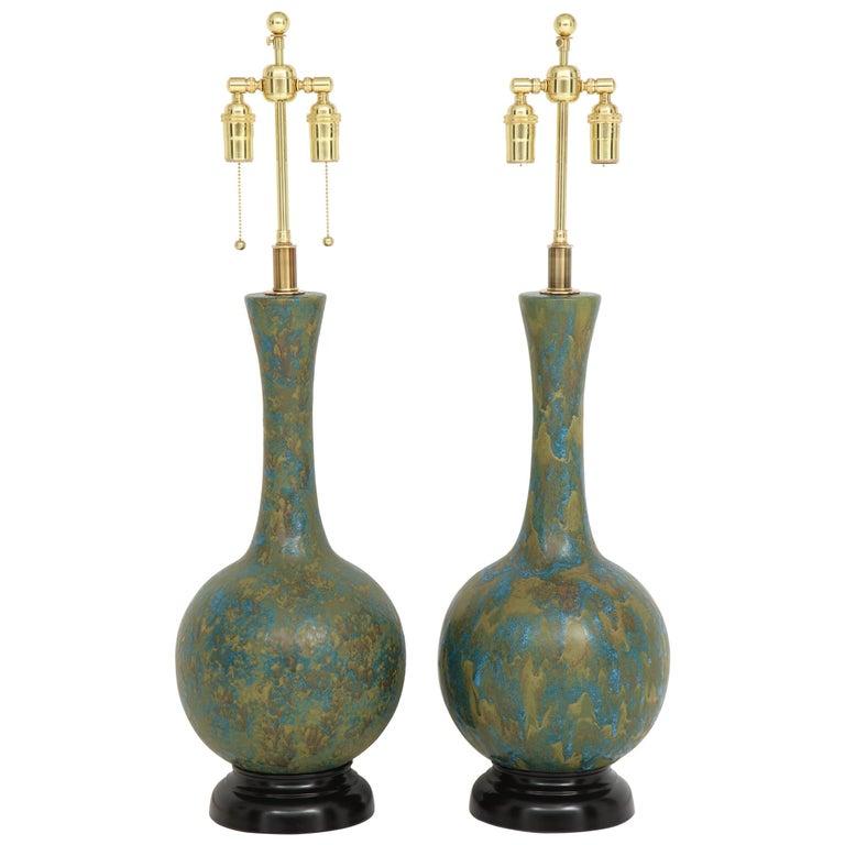 Pair of Midcentury Ceramic Lamps