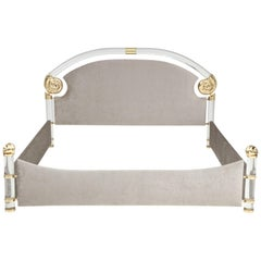 Stunning Lucite King Size Bed by Marcello Mioni