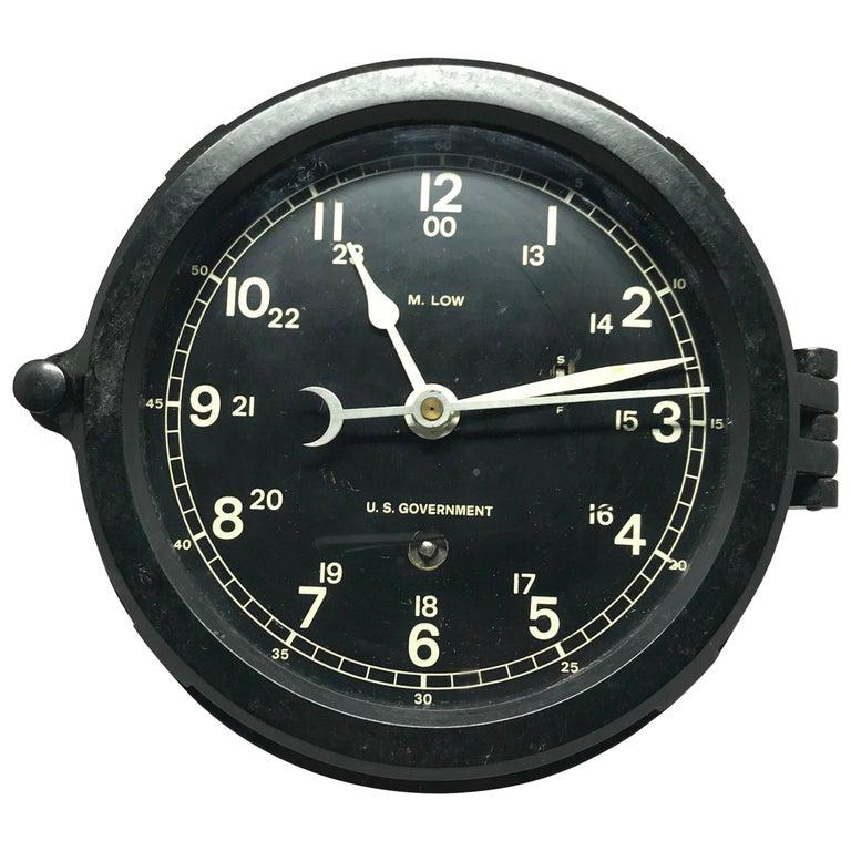 Vintage American Nautical Clock