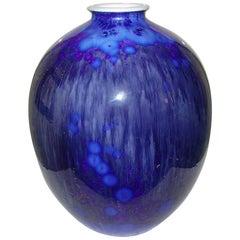 Royal Copenhagen Unique Crystalline Vase from 1927 by Søren Berg