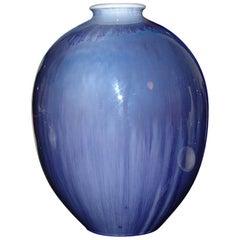 Royal Copenhagen Unique Crystalline Vase from 1925 by Søren Berg
