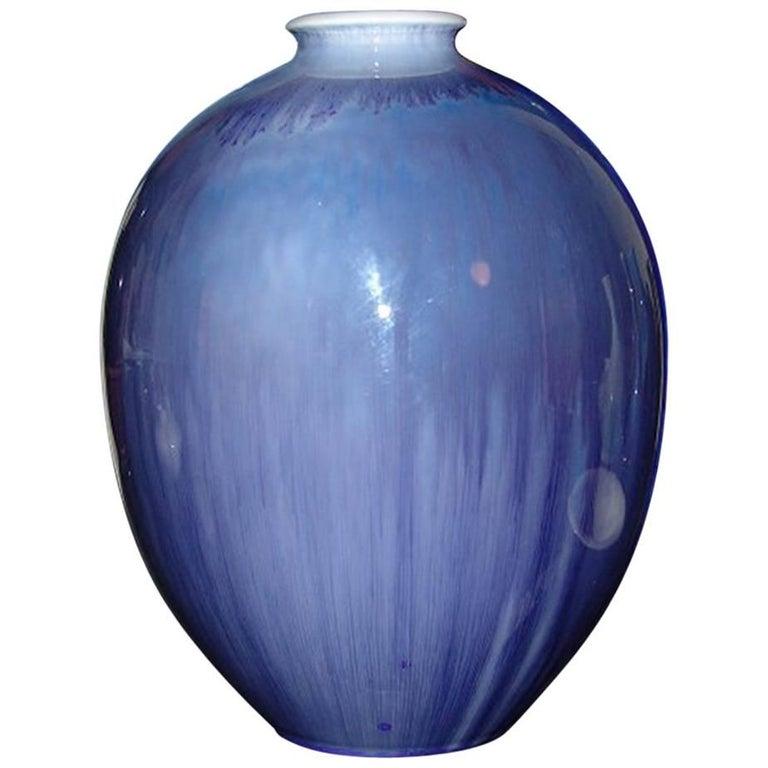 Royal Copenhagen Crystalline Glaze Vase By Sren Berg From 1925 For