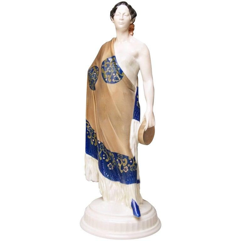 Rosenthal Germany Art Nouveau Figurine K 138 Carmen Karl Himmelstoss, circa 1920