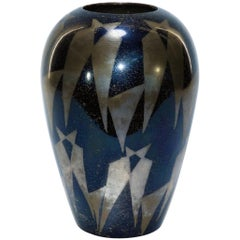 French Art Deco Dunand Style Lacquered Vase