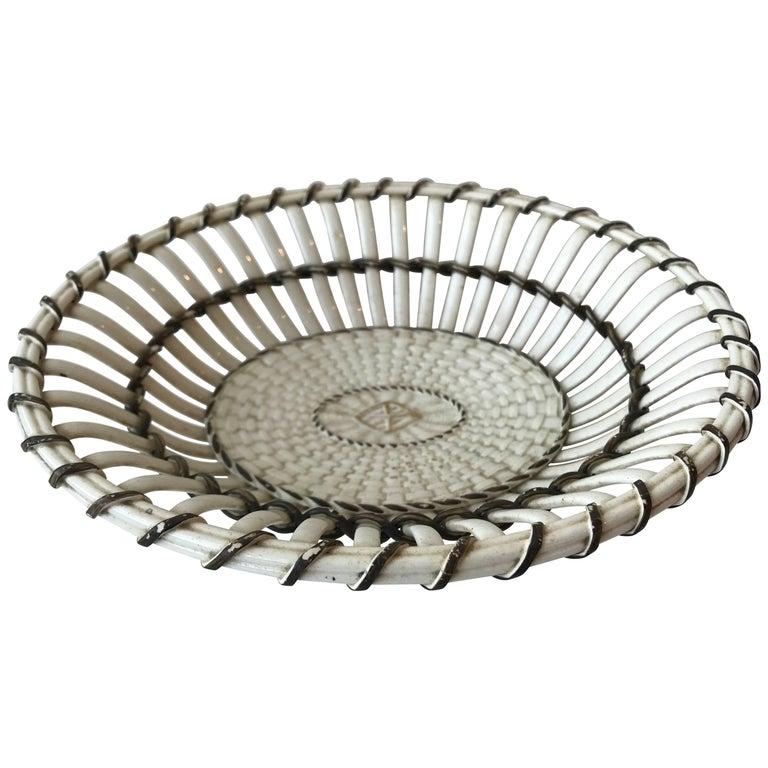 19th Century Wedgewood Creamware Basket/Bowl
