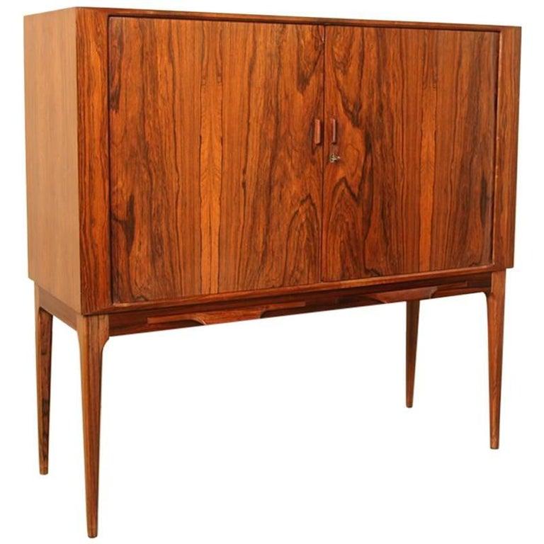 Rosewood bar cabinet by Kurt Østervig for K P Møbler Denmark