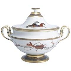 Hermes Cheval d'Orient Porcelain Soup Tureen