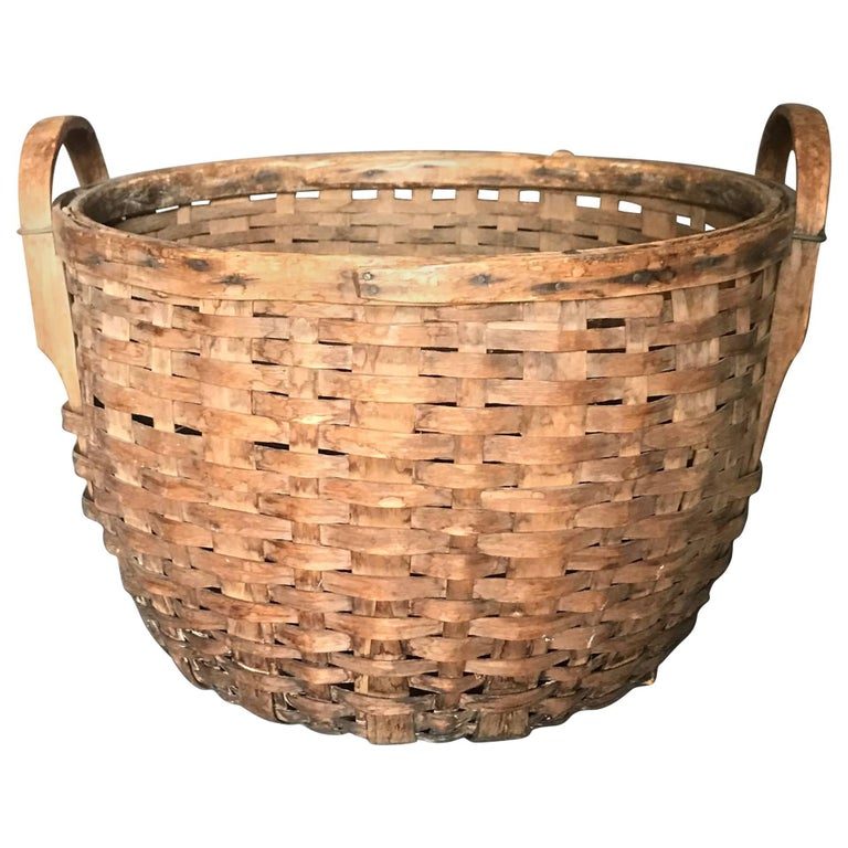Large American Basket with Handles