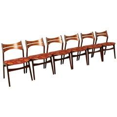 Erik Buck Model 310 Dining Room Chairs Set of Six