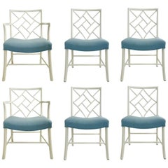 Set of Six Chippendale Cockpen Dining Chairs