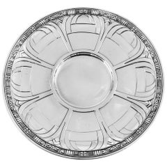 Art Deco Sterling Plate