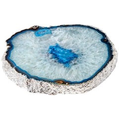 Travessa Platter Azure Agate and Silver, in Stock
