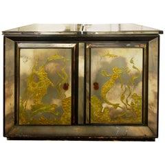 Vintage Mirrored Venetian Style Bar