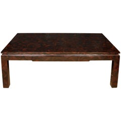 Oversize Faux Tortoise Coffee Table