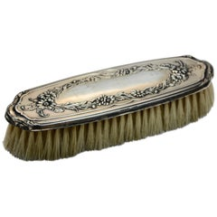 Sterling Silver Late 19th Century Victorian Clothes Brush