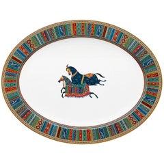 Hermes Cheval d'Orient Porcelain Large Oval Platter