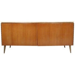 Paul McCobb Credenza with Travertine Top
