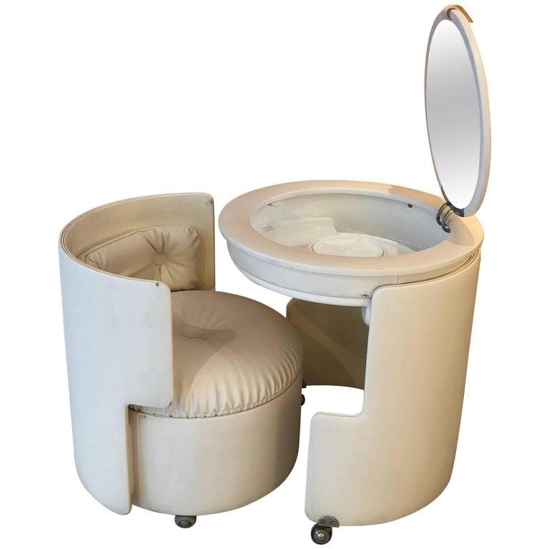 Vanity And Chair Poltrona Frau Designer Luigi Massoni