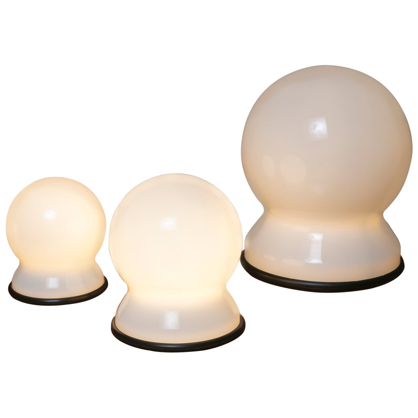 """Set of Three """"Scafandro"""" Table Lamps by Sergio Asti for Candle"""
