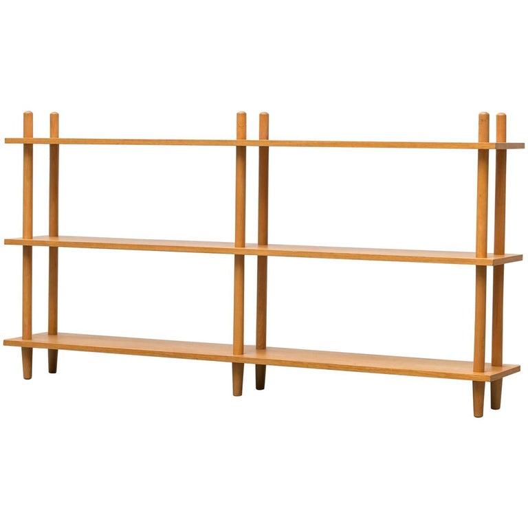 Blonde Modernist Standing Bookshelf For Sale