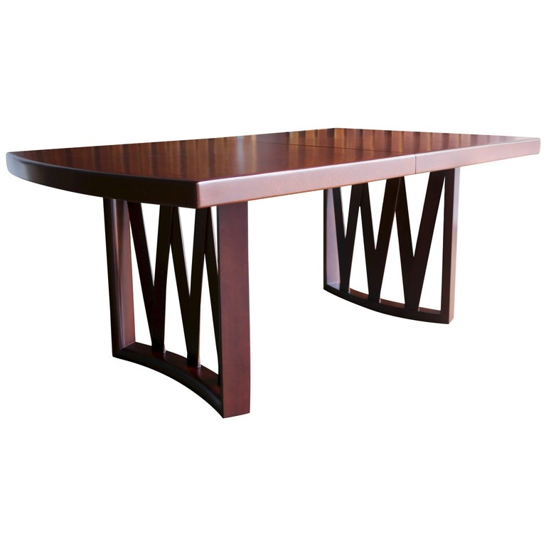 Paul Frankl Cork and Mahogany Dining Table